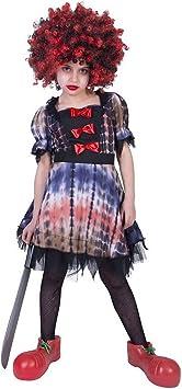 erdbeerclown – Chica Disfraz para Niños, Horror Creepy Clown ...