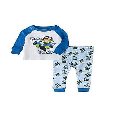 Baby Plane Tired 2pc Sleepwear set (24M)