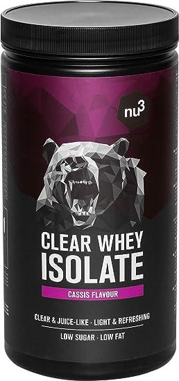 nu3 proteína de suero aislada - 700 g de Whey Isolate sabor casis - 24,8g de proteína pura + 5,5g de BCAA - 83% de iso whey protein - Sin azúcar extra ...