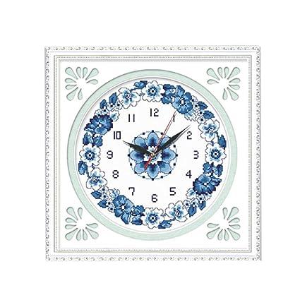 CCJIN Reloj de Punto de Cruz,DIY 5d Diamond Pintura por número Kit,Full
