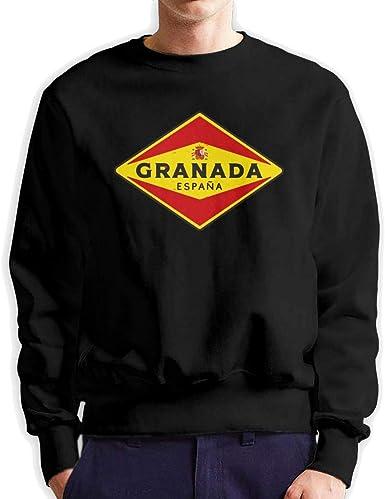 Top Wholesale Granada España - Sudadera de Cuello Redondo para Hombre, Grosor Medio: Amazon.es: Ropa y accesorios