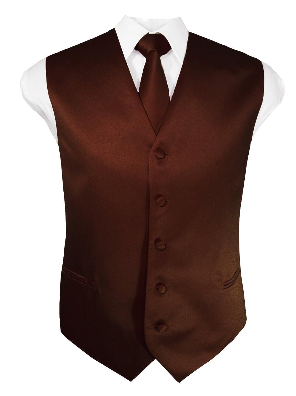 Guytalk Mens Solid Tuxedo Vest Necktie and Handkerchief Set(30 Colors, XS-4XL) GVST015-$P