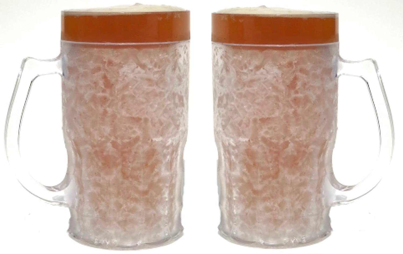 Beer Mugs for Freezer, Beer Mug, Freezer Mug, Beer Mugs - 13.5 oz, Set of 2, Clear