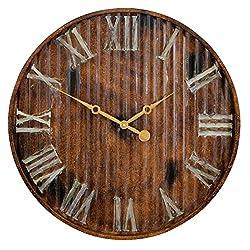 Aspire Marcelle Metal Wall Clock, Brown