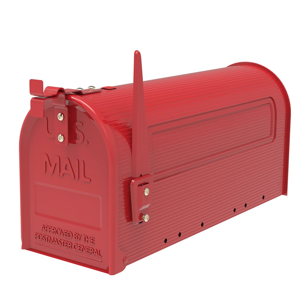 Architectural Mailboxesポストマウントメールボックス レッド ポストマウントメールボックス 丈夫な鉄製   B07J479165