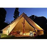 ベルテントBell tent 特大 ハイクオリティ 100%コットン仕様 6m 防水 ティーピーテント 3日以内に到着 [並行輸入品]