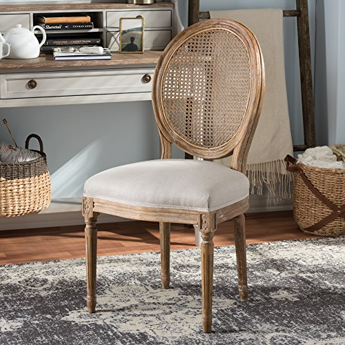 Dining Chair with Round Cane Back