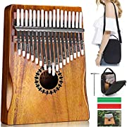 #LightningDeal Kalimba Thumb Piano 17 Keys, Portable Mbira Finger Piano Gifts for Kids and Adults Beginners
