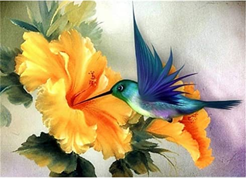 feilin Full Drill Painting Cross Stitch Crystal Rhinestone Embroidery Mosaic Picture Artwork Home Wall Decor Gift 11.8x15.7inch DIY 5D Diamond Painting Bird by Number Kits