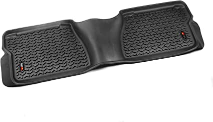 Rugged Ridge 82904.21 All Terrain Floor Liner Black 2012-2019 Toyota Sequoia // Tundra Regular // Double Cab // Crew Max Front