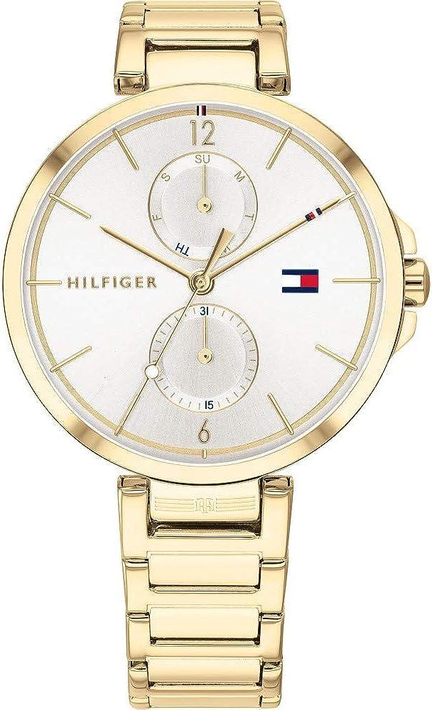 Tommy Hilfiger Reloj Analógico para Mujer de Cuarzo con Correa en Acero Inoxidable 1782128