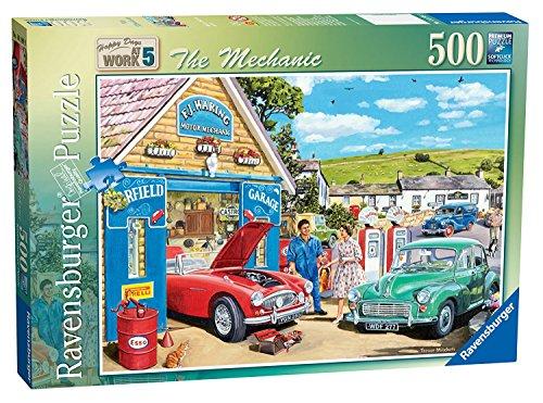 500pc Ravensburger Jigsaw Puzzle - Ravensburger Happy Days at Work No.5 The Mechanic, 500pc Jigsaw Puzzle