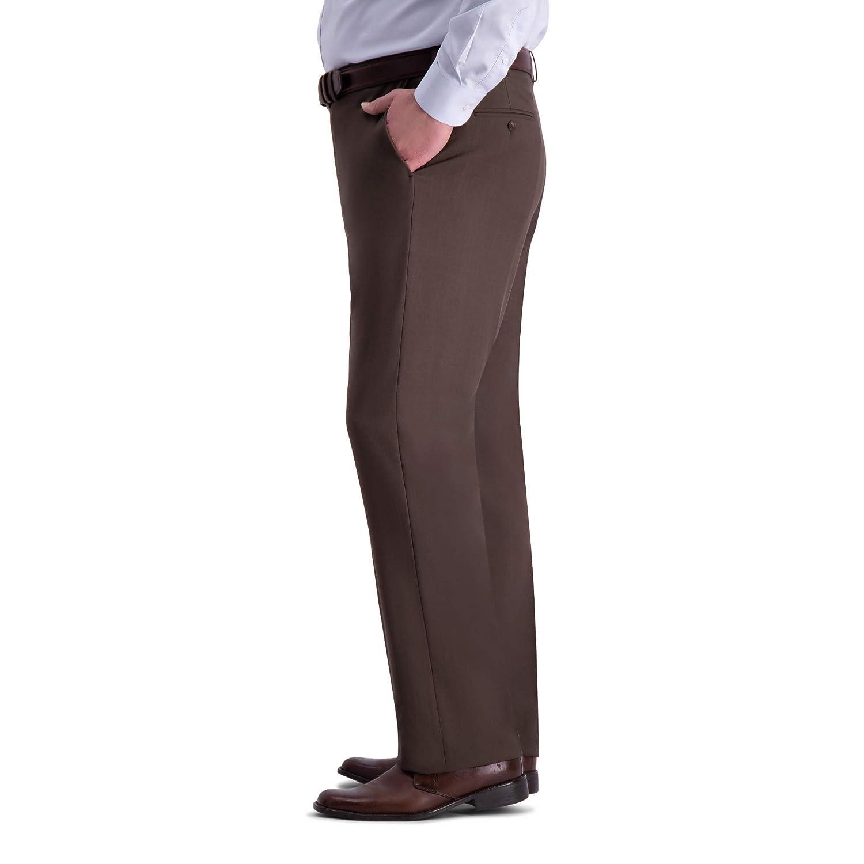 Haggar Mens Big and Tall Big /& Tall Premium Comfort Classic Fit Flat Front Pant