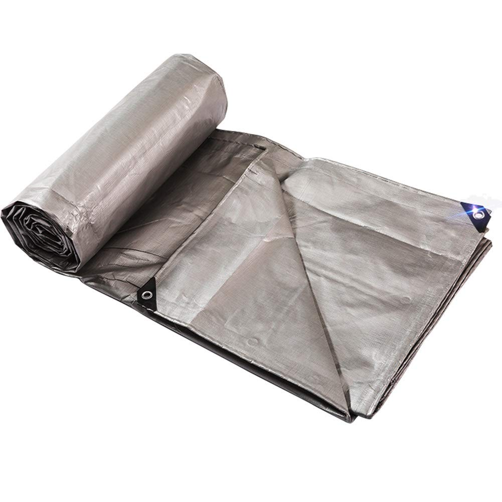 QIDI ターポリン バイザー布 グレー プラスチック アウトドア 防水 日焼け止め布 (サイズ さいず : 4 * 6m) 4*6m  B07H8TRHVK