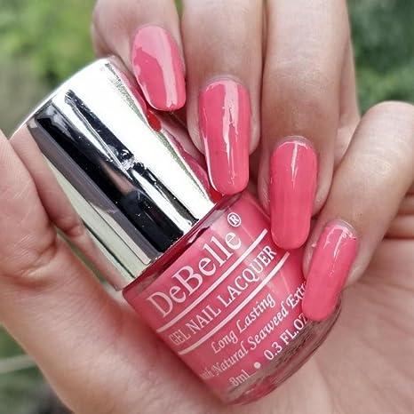 Buy DeBelle Gel Nail Lacquer Bebe\' Kiss - 8 ml (Baby Pink Nail ...