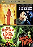4 Feature Films: CARRIE / MISERY / THE RETURN OF THE LIVING DEAD / SWAMP THING