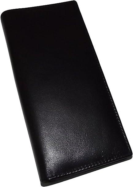 NEW ITALIA LEATHER MEN/'S RFID BLOCKING BREAST POCKET SECRETARY ID WALLET BLACK