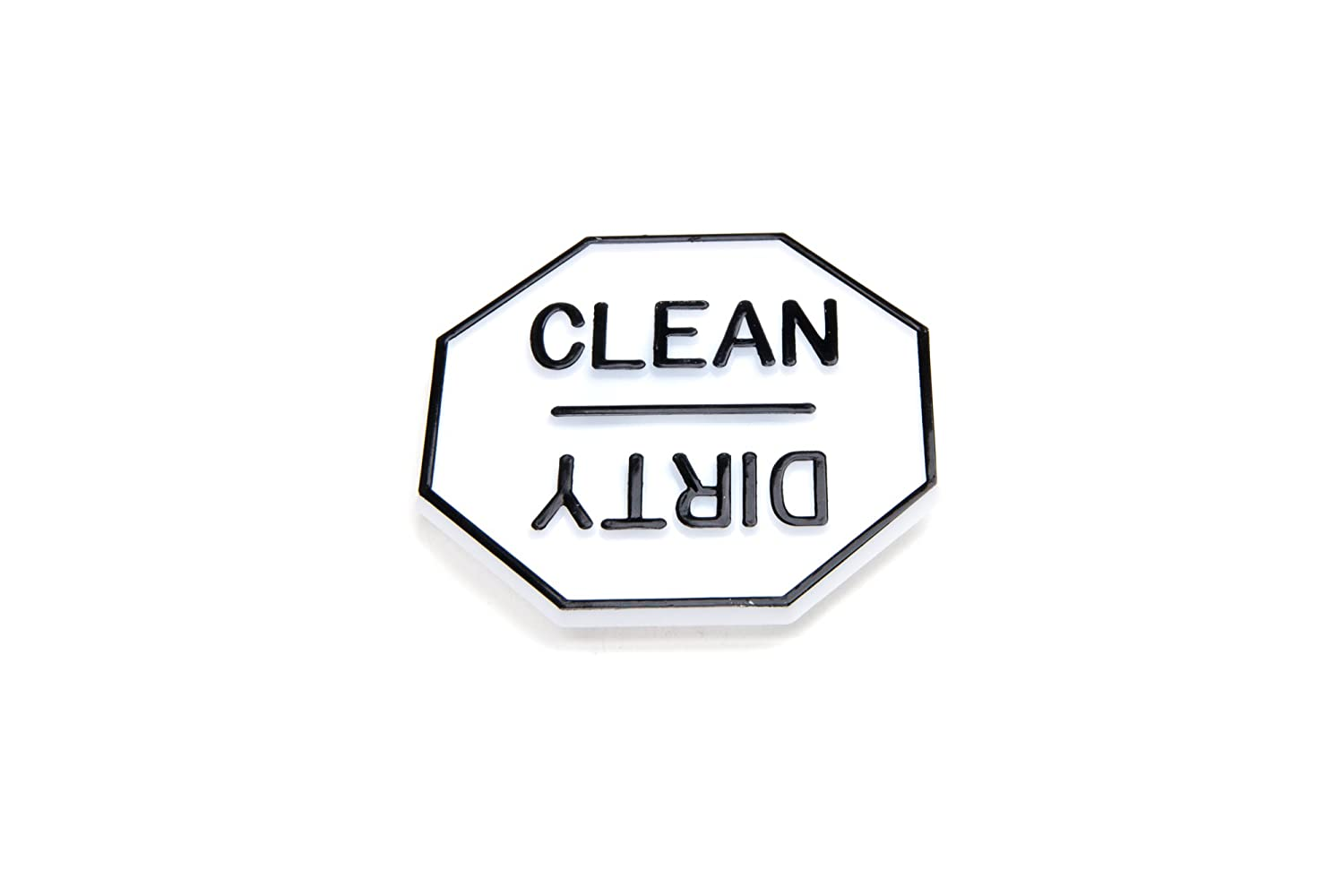 Dirty Reminder Plastic Material 5935 Fox Run Dishwasher Magnet Back Clean
