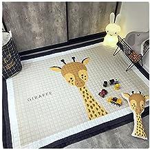 Kids Teepee Mat Children Antiskid Play Mat Baby Crawling Mat Non-slip thicken Carpet(145*195 CM) (Giraffe)
