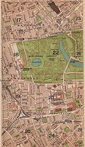South Kensington London Map.London W Bayswater Earl S Court South Kensington Paddington 1927