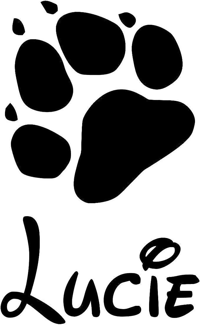 Gravola Pfote Mit Wunschname Katzenpfote Hundepfote Aufkleber Auto
