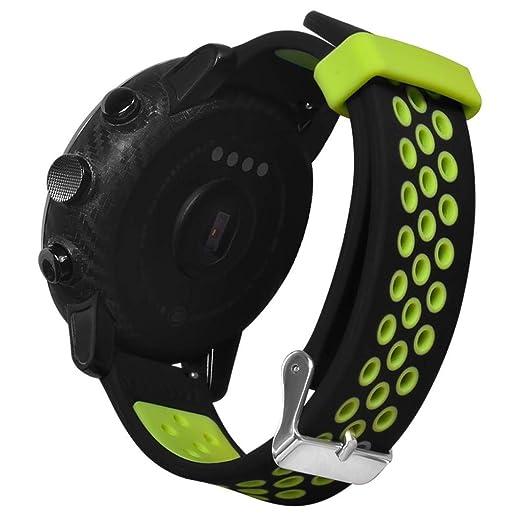 MYQyiyi Cómodo Deportes Correa de Silicona de Reloj para Xiaomi Huami AMAZFIT 2/2S