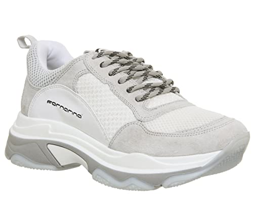 Fornarina Womens White Super 4 Chunky Trainers