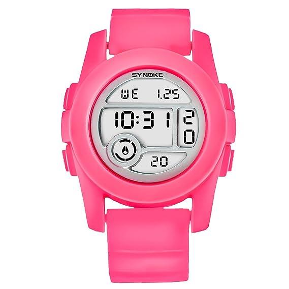 Reloj Digital para Mujer Relojes Deportivos para adolescentes Rojo reloj led hombre deportivo