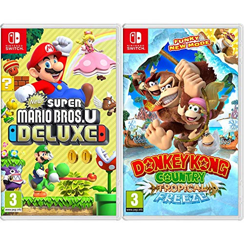 New Super Mario Bros. U Deluxe + Donkey Kong Country: Tropical Freeze - Two Game Bundle - Nintendo Switch