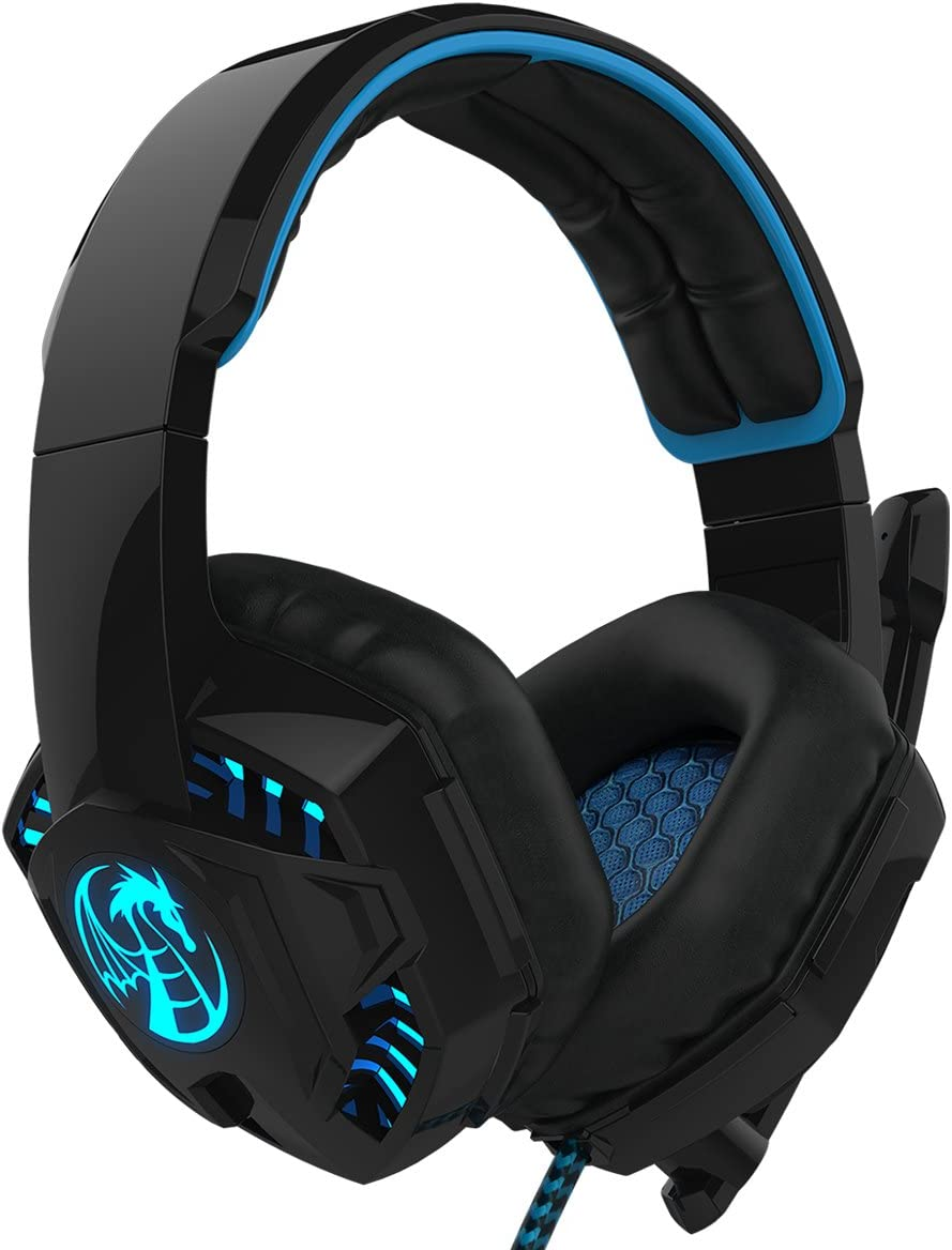 LIHAO NOSWER I8L Stereo Gaming Headset PC LED Light: Amazon