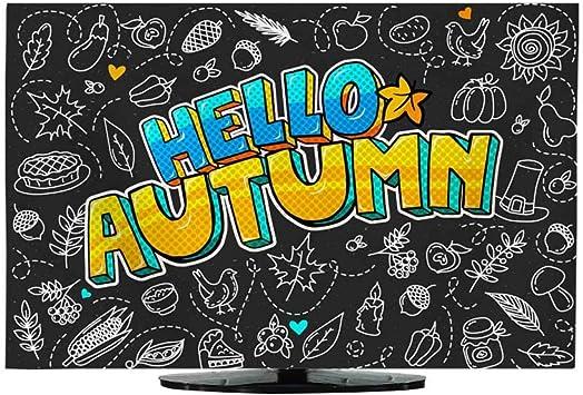 Funda para cortina de TV, diseño con texto en inglés