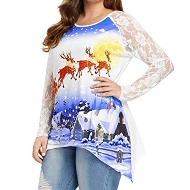 f34f48818fd Christmas Tops Blouse Plus Size for Women