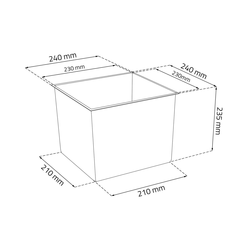 Juka 25x25x26h cm Pot E.5 bianco Lamela