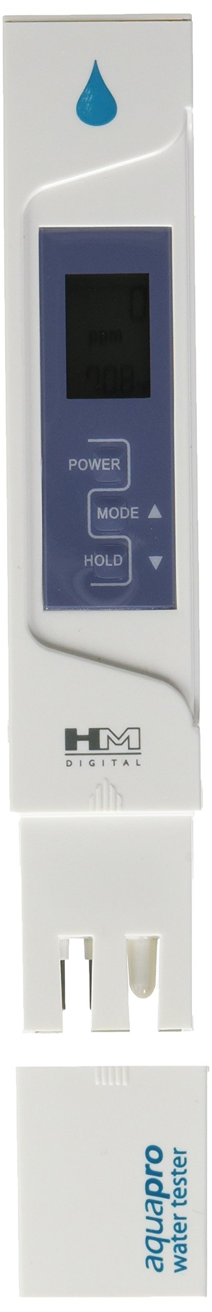 HM Digital AP-1 AquaPro Water Quality Total Dissolved Solids Tester, 0-5000 ppm TDS Range, 1 ppm Resolution, +/- 2% Readout Accuracy (Magnetic Body)