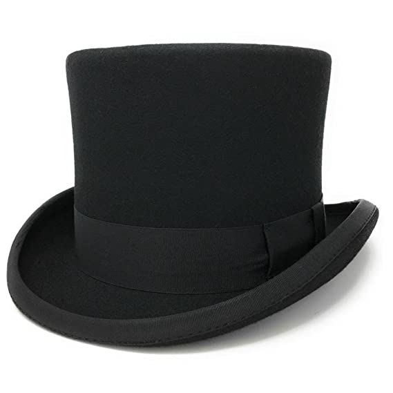 384fcdf4f94 Cotswold Country Hats Black Traditional Wool Felt Top Hat. Satin ...