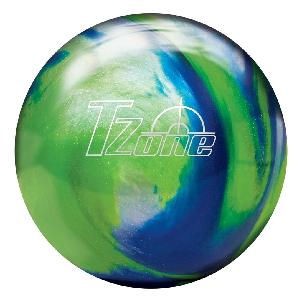 Brunswick T-Zone Glow Pre-Drilled Bowling Ball, Green/Blue, 15