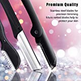 Eyebrow Razor,Hizek 6 in 1 Eyebrow Kit,Multipurpose Exfoliating Dermaplaning Tool Face Razors for Women, Including Facial Trimmer Shaver,Eyebrow Brush,Scissors,Tweezers,Storage Bag