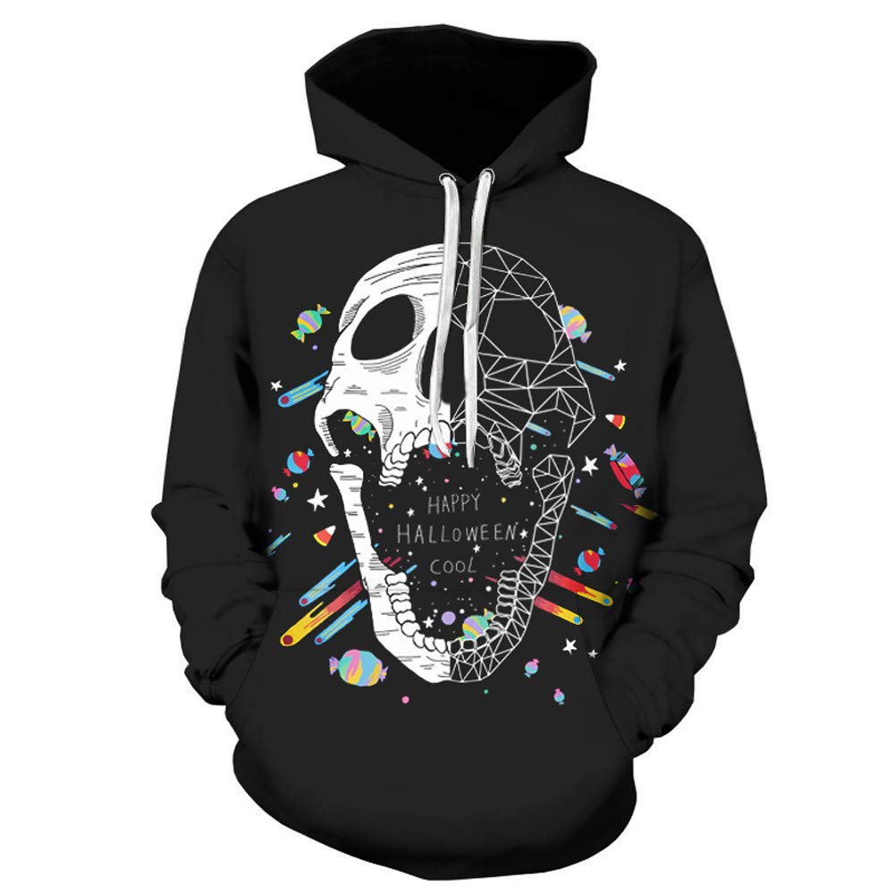 Unisex Realistic 3D Digital Print Pullover Hoodie Hooded Sweatshirt Casual Long Sleeved Sweater with Kangaroo Pockets by Close-dole