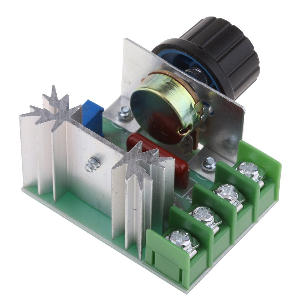MagiDeal 2000 Watt Hohe Leistung 2000W Spannungsregler Dimmer Geschwindigkeit Temperaturregler TMC-Module