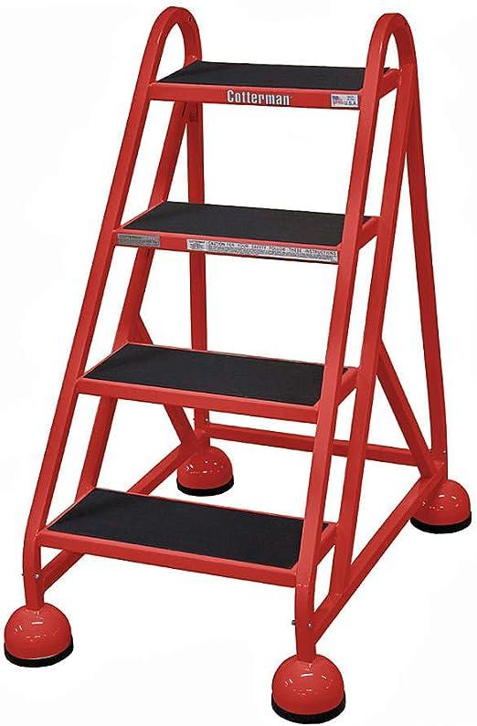 Cotterman - Escalera enrollable ST-420 A2 C6 P5-4-Step de goma, peldaños de goma, altura total de 40 kg, 450 lb. Capacidad de carga: Amazon.es: Bricolaje y herramientas