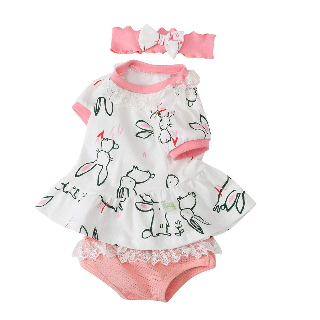 : NUWFOR Newborn Infant Baby Girls Bunny Rabbit
