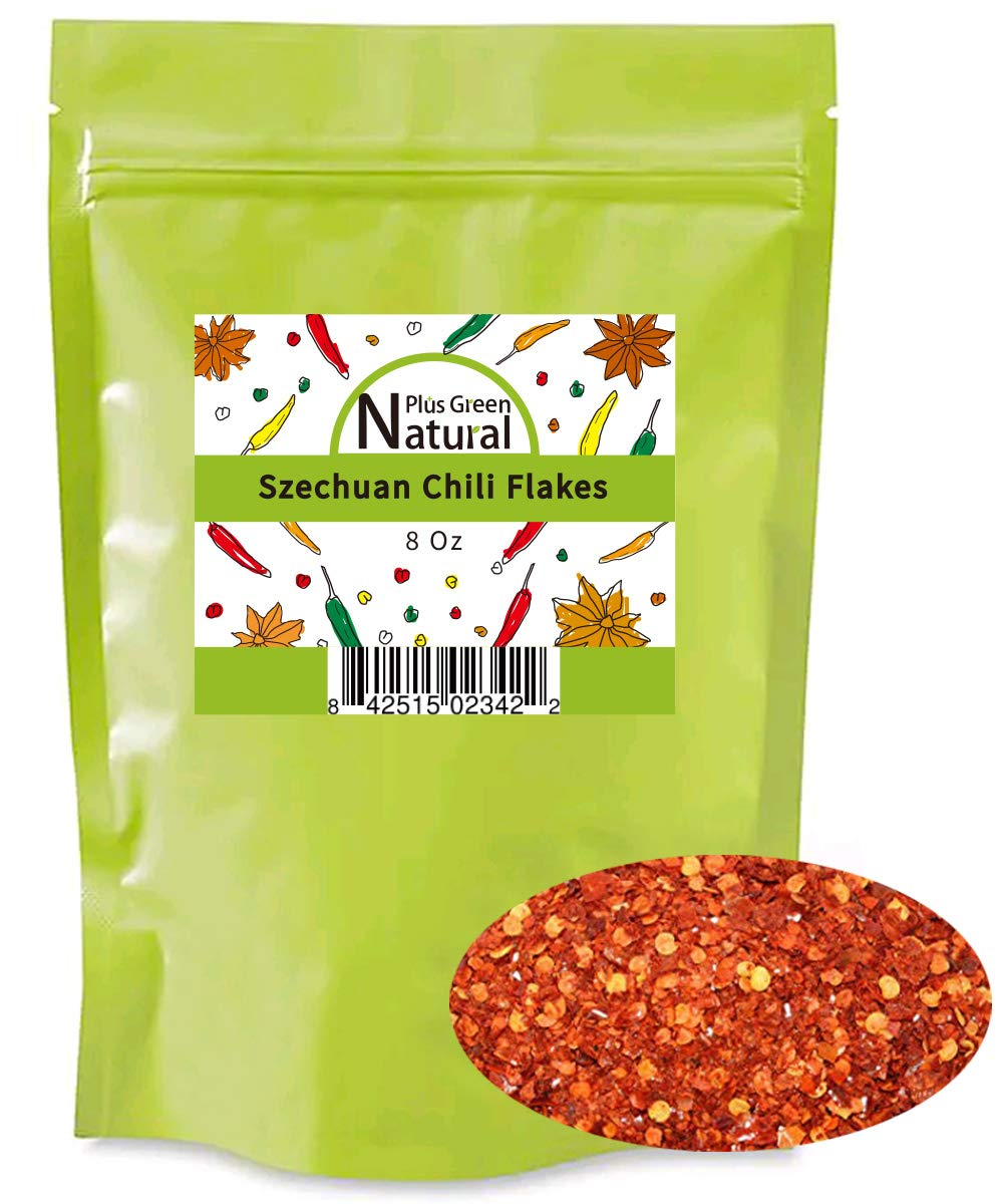 Sichuan Red Hot Chili Pepper Flakes Powder(8 oz), Medium Hot, Szechuan Crushed Red Pepper Flakes Bulk, Essential Spice Seasoning for Making Kimchi, Chili Oil, Stir-fry, Pizza, Salads, and Tacos