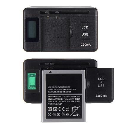 Malloom Para los teléfonos celulares Indicador LCD de pantalla Cargador de batería Universal Mobile + USB