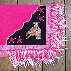 HILASON SB107-A HANDPAINT WESTERN SHOW BARREL RACING SADDLE BLANKET PAD PINK