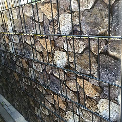 BoJayh Waterproof Privacy PVC Screen Strip Fence Colorful Rock Fence Fence Cloth 19CM*35M With Fixing Clip Used For Garden Balcony Awning Fence And Windproof (Size : 0.19x5m)
