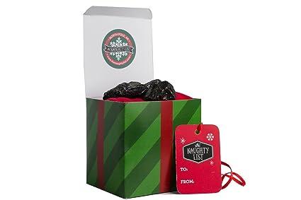 Amazon.com: Naughty List Lump of Coal Christmas Holiday Stocking ...
