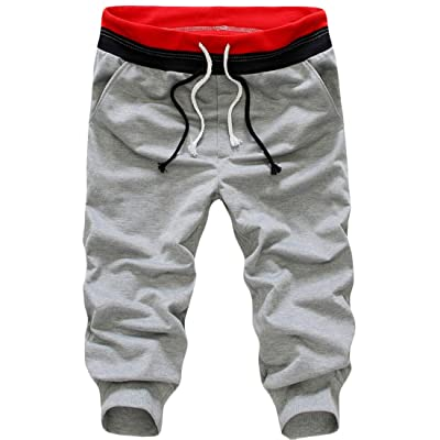 Acquaa Mens Fashion Casual Slim Sport Beach Capri Pants