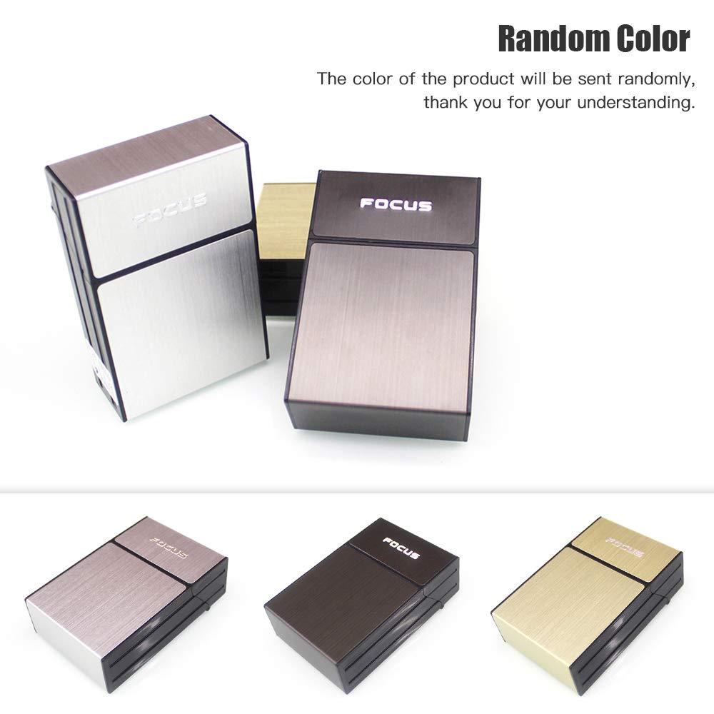 Weehey Dispensador de Cigarrillos Caja de Almacenamiento Funda de Cigarrillos con Tapa 20 Caja de Cigarrillos cargada de Alta Capacidad Color Aleatorio