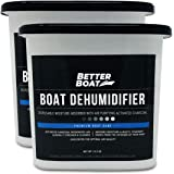 2 Pack Boat Dehumidifier Moisture Absorber and Charcoal Smell Remove Damp Musty Smell | Basement Closet Home RV or…
