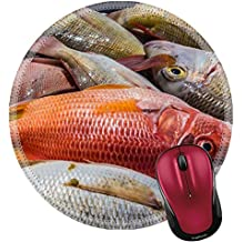 Liili Round Mouse Pad Natural Rubber Mousepad IMAGE ID: 12902407 Heap of freshly caught dead fish